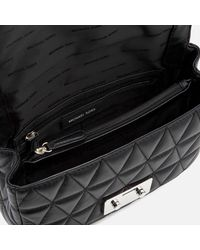 MICHAEL Michael Kors - Black Sloan Large Chain Shoulder Bag - Lyst