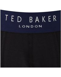 Ted Baker - Black Davinci Plain Boxers 3 Pack for Men - Lyst