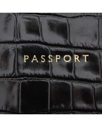 Aspinal - Black Passport Cover Purse - Lyst
