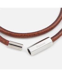 Miansai - Brown Bare Wrap Bracelet - Lyst