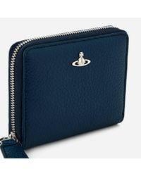 Vivienne Westwood - Blue Men's Milano Small Zip Wallet for Men - Lyst