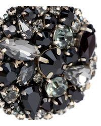 Oscar de la Renta - Black Crystal-embellished Disk Earrings - Lyst