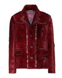 Prada - Red Calf Hair Jacket - Lyst