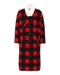 Étoile Isabel Marant | Red Glitz Wool-blend Coat | Lyst