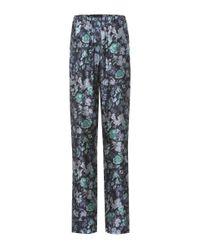 Burberry - Blue Printed Pyjama Trousers - Lyst