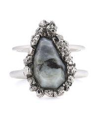 Alexander McQueen - Gray Labradorite Bracelet - Lyst