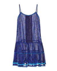 Poupette | Blue Printed Cotton Dress | Lyst