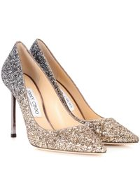 Jimmy Choo - Metallic Exclusive To Mytheresa – Romy 100 Glitter Pumps - Lyst