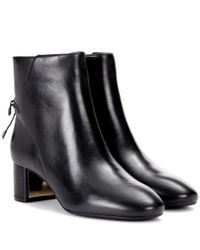 Tory Burch - Black Laila Leather Ankle Boots - Lyst