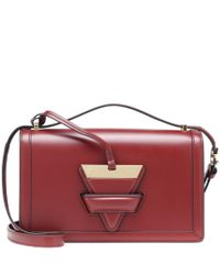 Loewe - Red Barcelona Leather Shoulder Bag - Lyst