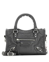 Balenciaga - Gray Classic Nano City Shoulder Bag - Lyst