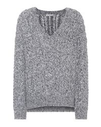 Vince - Gray Marled Wool-blend Sweater - Lyst