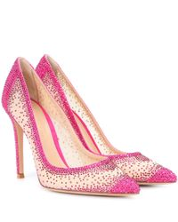 Gianvito Rossi - Pink Exclusive To Mytheresa.com – Rania Crystal-embellished Pumps - Lyst