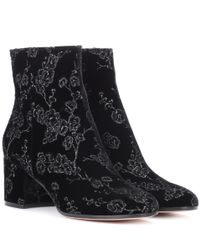 Gianvito Rossi - Black Exclusive To Mytheresa.com– Margaux Velvet Ankle Boots - Lyst