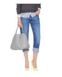 Bottega Veneta - Gray Medium Shoulder Bag - Lyst