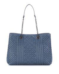 Bottega Veneta - Blue Intrecciato Leather Tote - Lyst