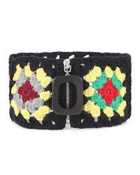 J.W. Anderson - Multicolor Crochet Wool-blend Neckband - Lyst