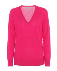 Burberry - Pink Cashmere Sweater - Lyst