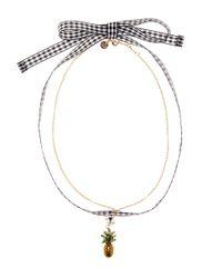 Miu Miu - Metallic Embellished Pineapple Choker - Lyst
