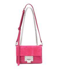 Jimmy Choo - Pink Rebel Soft Mini Suede Shoulder Bag - Lyst