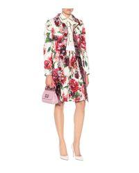 Dolce & Gabbana - White Embellished Floral-printed Coat - Lyst