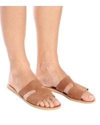 Ancient Greek Sandals - Brown Apteros Nubuck Leather Sandals - Lyst