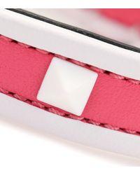 Valentino - Pink Free Rockstud Leather Bracelet - Lyst