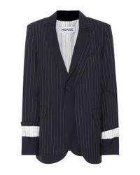 Monse - Blue Wool Layered Blazer - Lyst