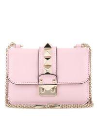 Valentino - Metallic Lock Mini Leather Shoulder Bag - Lyst