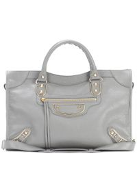 Balenciaga | Gray Classic Metallic Edge City Leather Tote | Lyst