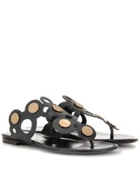 Pierre Hardy - Black Penny Lace Leather Sandals - Lyst