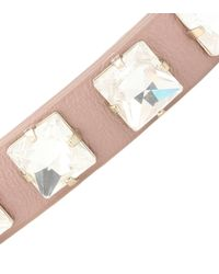 Valentino - Pink Rockstud Pearl Leather Cuff - Lyst