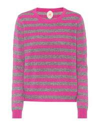 Jardin Des Orangers - Pink Striped Wool And Cashmere Sweater - Lyst