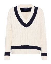 Polo Ralph Lauren - White Cable-knit Sweater - Lyst