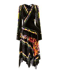 Peter Pilotto - Black Printed Velvet Dress - Lyst