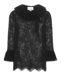 Gucci - Black Lace Top - Lyst