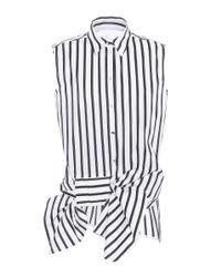 Victoria, Victoria Beckham - White Sleeveless Cotton Shirt - Lyst
