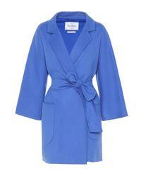 Max Mara - Blue Eligio Wool And Cashmere Coat - Lyst