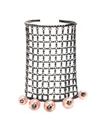 Gucci - Metallic Embellished Bracelet And Rings - Lyst