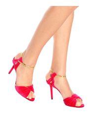 Charlotte Olympia - Pink Broadway 95 Velvet Sandals - Lyst