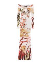 Roberto Cavalli - Multicolor Off-the-shoulder Printed Dress - Lyst