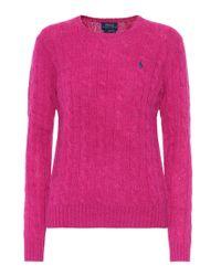 Polo Ralph Lauren - Pink Wool And Cashmere Sweater - Lyst