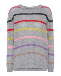 Jardin Des Orangers - Gray Striped Cashmere Sweater - Lyst