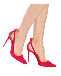 Aquazzura - Pink Escarpins en daim Deneuve 105 - Lyst
