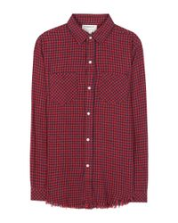 Current/Elliott Red The Two Pocket Prep School Cotton Knitted Shirt