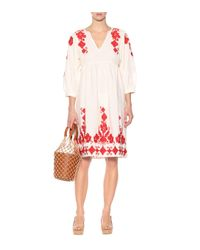 Velvet - White Jora Cotton And Linen Dress - Lyst