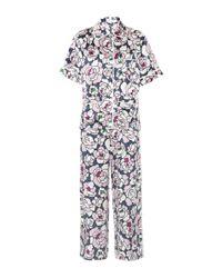 Olivia Von Halle | Multicolor Daria Silk-satin Pyjama Set | Lyst