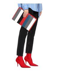 Balenciaga - Red Bazar Leather Clutch - Lyst