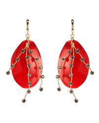 Marni - Red Pendant Earrings - Lyst