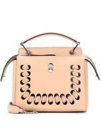 Fendi - Natural Dotcom Leather Shoulder Bag - Lyst